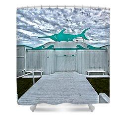 Swordfish Beach Club I Shower Curtain