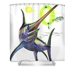 Swordfishing Shower Curtain