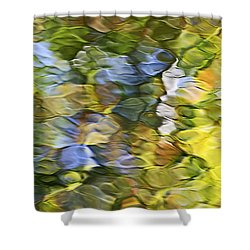Sycamore Mosaic Shower Curtain by Christina Rollo