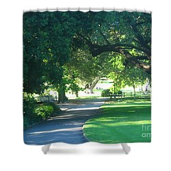 Shower Curtain featuring the photograph Sydney Botanical Gardens Walk by Leanne Seymour
