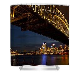 Shower Curtain featuring the photograph Sydney Harbour Bridge by Miroslava Jurcik