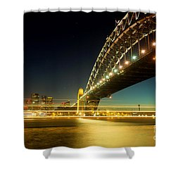 Shower Curtain featuring the photograph Sydney Harbour Bridge by Yew Kwang