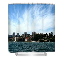 Shower Curtain featuring the photograph Sydney Harbour Sky by Leanne Seymour