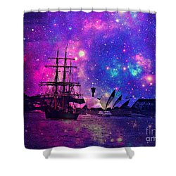 Sydney Harbour Through Time And Space Shower Curtain