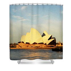 Sydney Opera House Painting Shower Curtain by Pixel Chimp