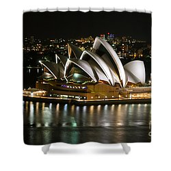 Sydney Opera Shower Curtain by Syed Aqueel