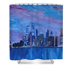 Sydney Skyline With Opera House At Dusk Shower Curtain by M Bleichner