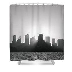 Sydney's Evening B/w Shower Curtain