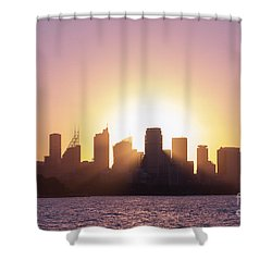 Sydney's Evening Shower Curtain