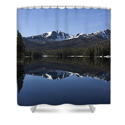 Sylvan Lake Reflection - Yellowstone Shower Curtain