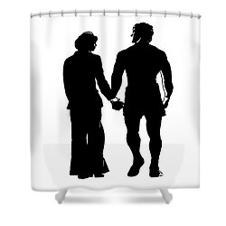Sylvester Stallone And Talia Shire In Rocky Shower Curtain