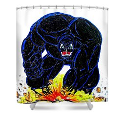 Symbiote Guy Shower Curtain by Justin Moore