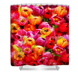 Symbol Of Love Shower Curtain by Lourry Legarde