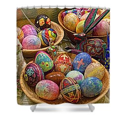Symbols Of Easter- Spiritual And Secular Shower Curtain by Gary Holmes