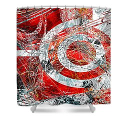 Shower Curtain featuring the digital art Symmetry by Fine Art By Andrew David