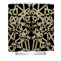 Symmetry On Black - Abstract - Art Shower Curtain