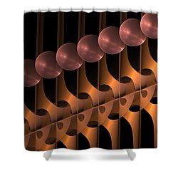 Shower Curtain featuring the digital art Symphony by Gabiw Art