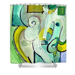 Symphony In Green Shower Curtain by Stephen Lucas