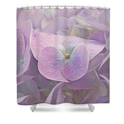 Symphony In Purple Shower Curtain by Kim Hojnacki