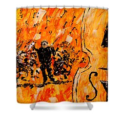 Symphony Shower Curtain by Mark Moore
