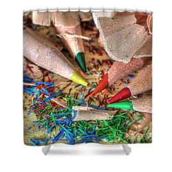 Symphony Of Color Shower Curtain by Tracy  Hall