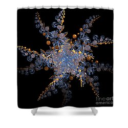 Synchronized  By Jammer Shower Curtain by First Star Art