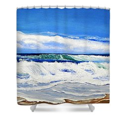 Synchronized Sensations Shower Curtain
