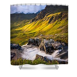 Synclavier Foothills Shower Curtain