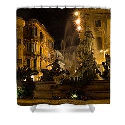 Shower Curtain featuring the photograph Syracuse - Diana Fountain  by Georgia Mizuleva
