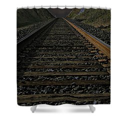 T Rails Shower Curtain by Janice Westerberg
