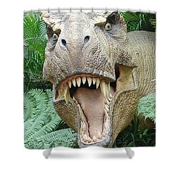 T-rex Shower Curtain by David Nicholls