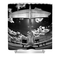 T Wing Shower Curtain