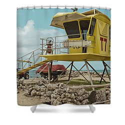 T7 - Baldwin Beach Park Maui Shower Curtain by Sharon Mau