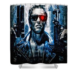 T800 Terminator Shower Curtain