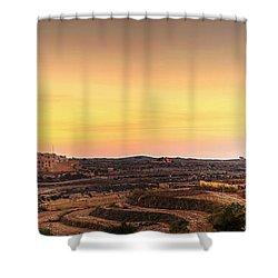 Ta Pinu And Gharb Shower Curtain by Ian Good