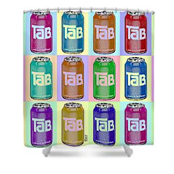 Tab Ode To Andy Warhol Repeat Horizontal Shower Curtain