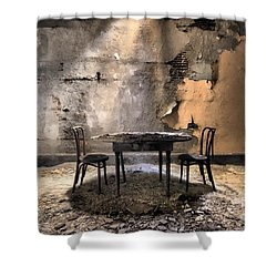 Table 4 Two Shower Curtain by Rick Kuperberg Sr