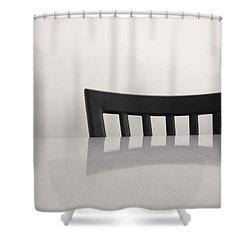 Table And Chair Shower Curtain by Don Spenner
