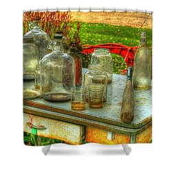 Table Collections Shower Curtain by Randy Pollard