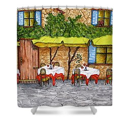 Table For Three Shower Curtain