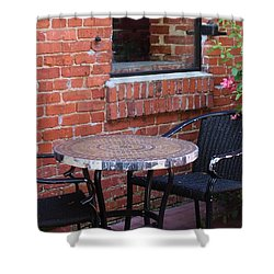 Shower Curtain featuring the photograph Table For Two by Cynthia Guinn