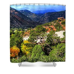 Table Rock To Pike's Peak Shower Curtain by Lanita Williams