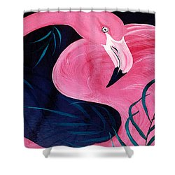 Table Top Flamingo Shower Curtain