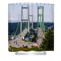Tacoma Narrows Bridge Shower Curtain