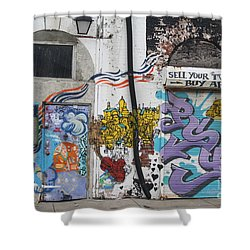 Shower Curtain featuring the photograph Tagging North Philly by Christopher Woods