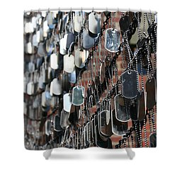 Tags Shower Curtain by DJ Florek