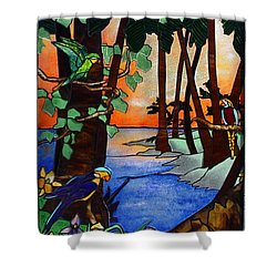 Tahiti Window Shower Curtain by Peter Piatt