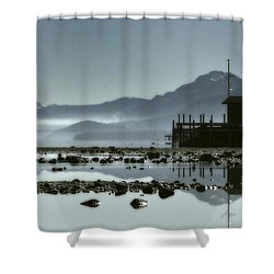 Tahoe Blue Shower Curtain