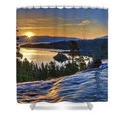 Tahoe Sunrise Shower Curtain