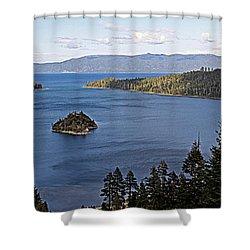 Lake Tahoe's Emerald Bay Shower Curtain